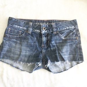 Guess Cut Off Jean Shorts Size 27